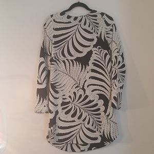 H&M black, grey and beige patterned mini dress